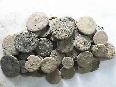 Lot of 50 Lower Quality Uncleaned Crusty Ancient Roman Coins; 125.1 Grams!