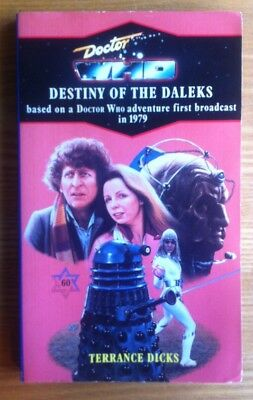 Doctor Who Destiny Of The Daleks Virgin book signed Lalla Ward excellent unread