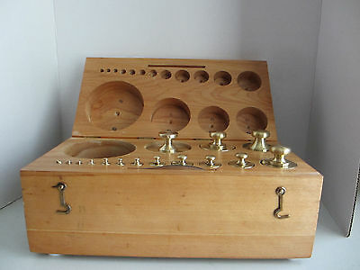 Antique15 Pc Set Of Brass Scale Weights  #19