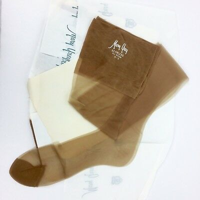 Vintage 60's Mary Grey Stockings Nylon SZ 10 S LOT OF 3 Pair New In Paper No Box