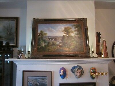 Late 19th C. / Early 20th C. landscape painting, oil on canvas, unsigned