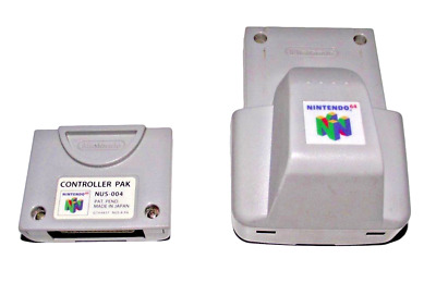 Genuine N64 Rumble Pak + Memory Card Nintendo 64