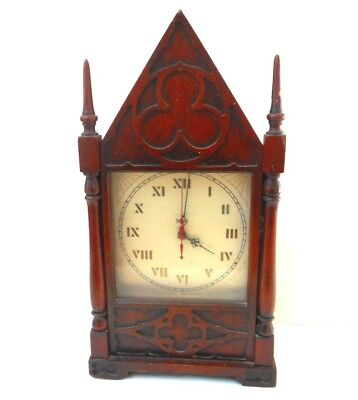 Vintage Trend Mantle Clock Cathedral Shelf Working Gothic Electric Sharon