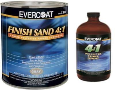 Evercoat 738 4:1 Gray Finish Sand Hybrid Polyester Primer With Act (Fib-738-733)
