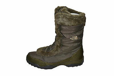 The North Face Nuptse Fur II Womens BOOTS size 10 NEW SNOW SKI BROWN WATERPROOF