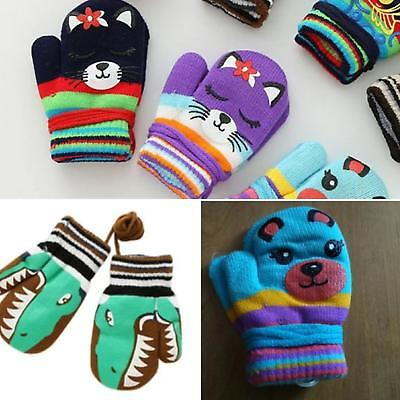 GLOVES ON A STRING Mittens Babies kids baby children Toddler Boys Girls mitts UK