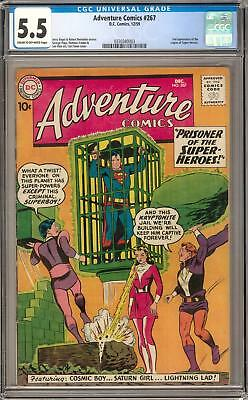 Adventure Comics #267 CGC 5.5 (C-OW) 2nd appearance of Legion of Super-Heroes