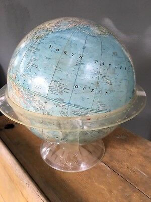 Vintage National geographic globe 1961 With acrylic stand