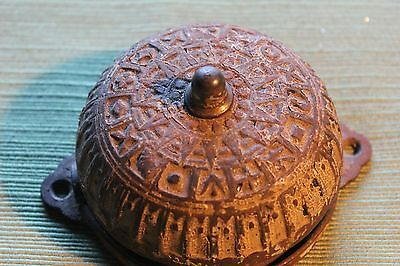 VINTAGE ANTIQUE VICTORIAN Steel DOORBELL PATENT 1878-82