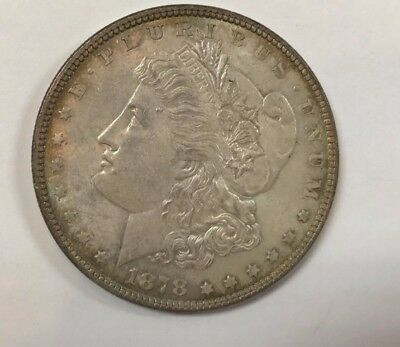 Under Wholesale Bid- 1878 7 Tail Feathers Bu Condition Morgan Silver Dollar