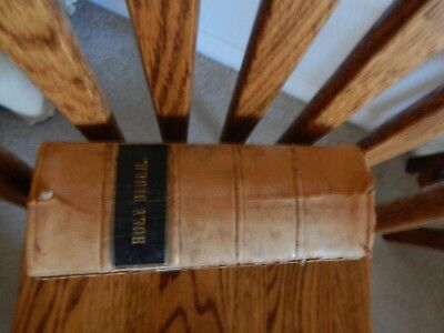 Rare Antique Holy Bible ~ 1836 ~ Printed In London At Cambridge By Pitt Press