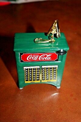 Coca Cola COKE bottle cooler or display cabinet Christmas Ornament w/ clip