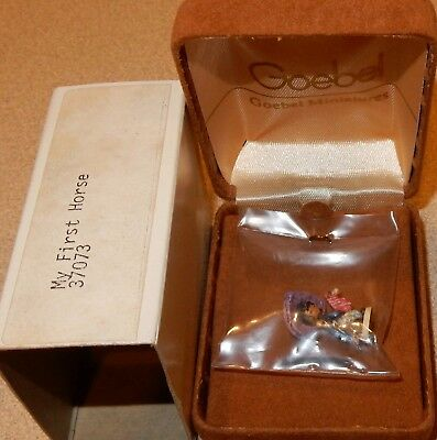 "Olszewski Miniature Goebel DeGrazia ""My First Horse"" New with Box"