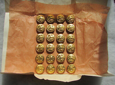 24 Post 1911 New York State Buttons -unused on original card!
