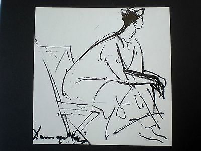 Endre Domanovszky (1907-1974), Seated Woman,1958, Druck 70er Jahre(schw.-w.)