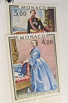 MONACO  Sc #1187-88 ** MNH , Royalty, postage stamps, Fine +