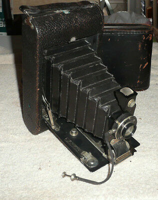 Antique Vintage Conley Junior folding camera with Wollensak lens early 1900s