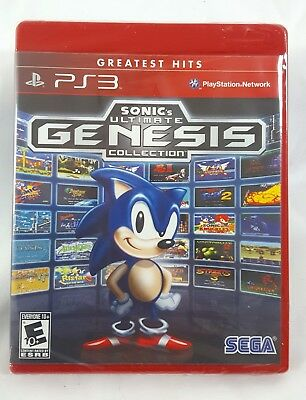 Sonic's Ultimate Genesis Collection Greatest Hits PS3 PLAYSTATION 3 NEW Sealed