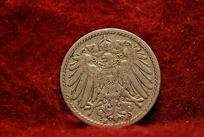 Germany, 1908-E 5 Pfennig, KM11, Fine+, NR,               @New Postal Rate@  4cl