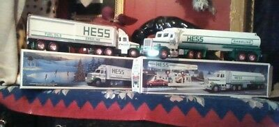 Lot of 2 Vintage Hess Trucks - Toy Tanker & Toy Truck Bank.  1987 & 1990.