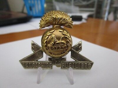 WWI British Army The Lancashire Fusiliers KK618 Bi Metal Cap Badge #1631