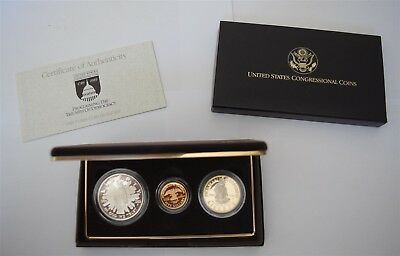 """1989 Congressional 3-Coin Gold Proof Set """"Proof"""" *Free S/H After 1st Item*"""