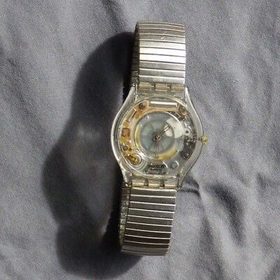 Vintage Swatch Watch 403-R Clear Stretch Band