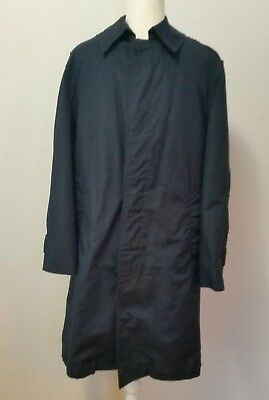 MILITARY Trench Coat RAINCOAT Rain Children's large Vintage NAVY BLUE Lined   I