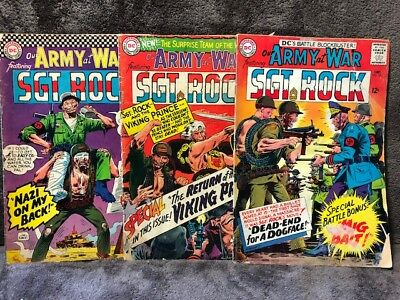 Our Army at War Comic Book Lot of 3 Books Sgt. Rock # 161, 162, 169