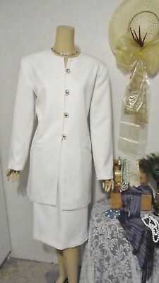 Mother Of The Bride Dress Skirt Suit by Executive Collection-Size 14/16-White