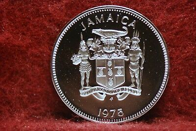 Jamaica, 1975 25 Cents, KM56, Proof+, NR,          @New Intl Postal Rate@    4cl