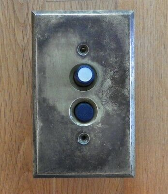 Vintage Push Button Light Switch W/ Brass Plate