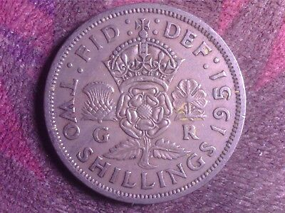 Great Britain    Two  Shilling  1951