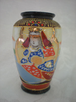 "Satsuma Moriage Hand-Painted 3"" Vase Made in Japan by Klimax"