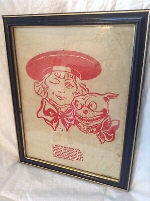 BUSTER BROWN KITE Buster & Tige Very Rare Original Antique