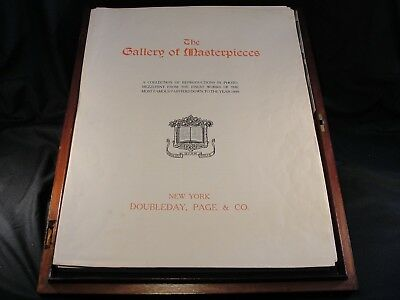 "Antique ""The Gallery of Masterpieces"" Photo-Mezzotints Doubleday Page & Co. Maho"