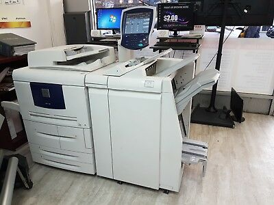 Xerox 4112 Copier Printer Black & White With Booklet Maker Finisher