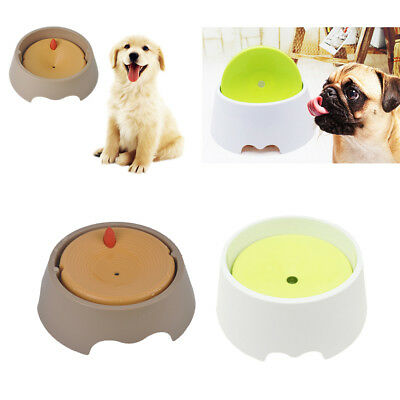 Pet Bowl No Spill Non-Skid No Wet Mouth Beard Dog Cat Dish Feeder Water Drinker
