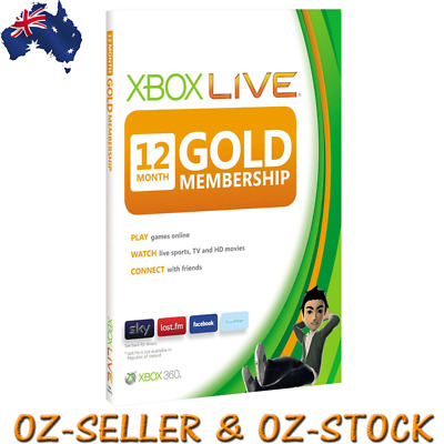 Xbox LIVE Gold 12 Months Membership Card Xbox One Xbox 360 WORLDWIDE COMPATIBLE