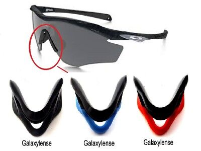 b4feb13f5fd3 Galaxy Nose Pads Rubber Kits For Oakley M2 Frame Sunglasses Black/Blue/Red