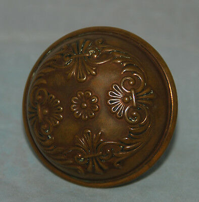 Antique Vintage Floral Art Deco Ornate Brass Door Knob