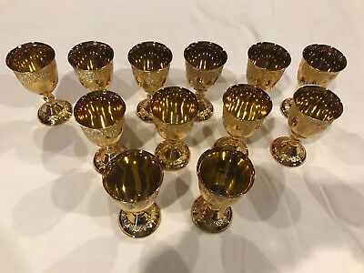12 Pcs. 24 GOLD PLATED CUPS OR GOBLETS