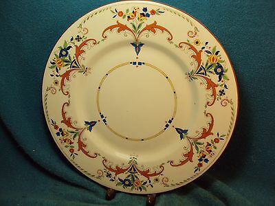 """Vtg RARE ? 10 -3/8"""" ROYAL DOULTON  England UNKNOWN Colorful Pattern Dinner Plate"""