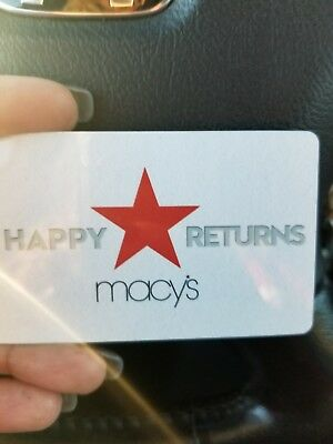 Macy's Gift Card Value $86.67, Selling for $5 Less until Sold