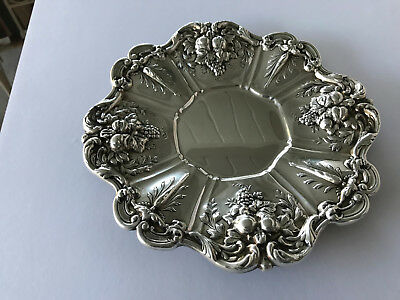"""Antique Reed & Barton Francis I Sterling Silver 11 1/2"""" Sandwich Tray (X569)"""