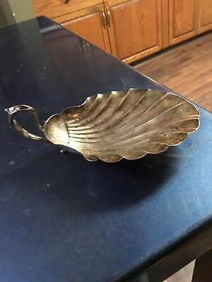 Large Vintage Sterling Silver Shell Dish - Free Ship!