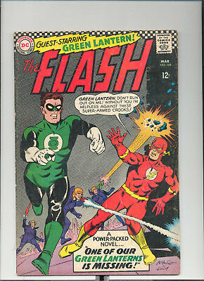 Flash #168, (Mar. 1967, DC), Green Lantern App., [4.5 VG+]