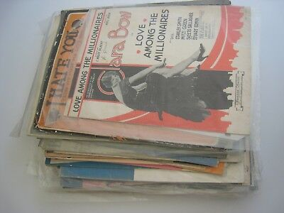 Lot  Vintage Sheet Music...8 lb. box...Late 1800s/early 1900s