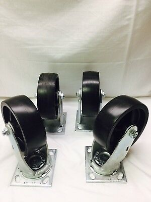 "Greenlee 6"" Caster Set 603 ~ 4 Caster Set ~ New"
