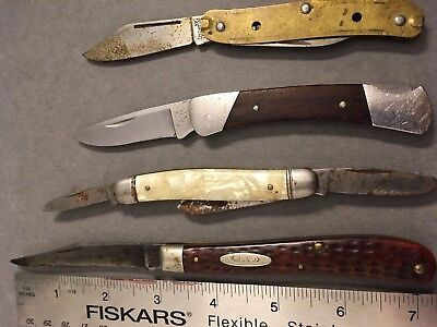 Case XX 61048 Pocket Knife Red Bone Handle  Buck 503 Imperial USA For Parts Lot